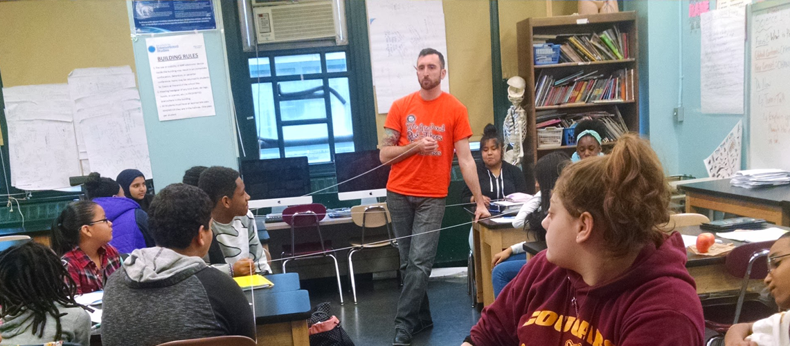 Mr. LoBianco teaching 8th Grade Science